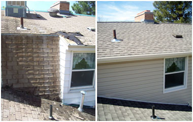 Residential roof remodel and repair before and after